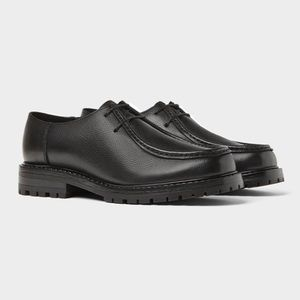Zara Men Black Leather Creepers size 10